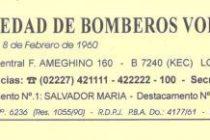 COMUNICADO DE LA SOCIEDAD DE BOMBEROS VOLUNTARIOS DE LOBOS