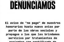 PRESTADORES DE SALUD DE PERSONAS CON DISCAPACIDAD, PRESOS DE UN VERGONZOSO SISTEMA DE PAGO