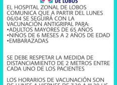 EL HOSPITAL CONTINUARÁ CON LA VACUNACIÓN ANTIGRIPAL EL PROXIMO LUNES