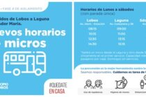 NUEVOS HORARIOS DE MICROS A LAGUNA DE LOBOS Y SALVADOR MARÍA