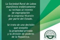 SOCIEDAD RURAL DE LOBOS ADHIERE AL RECHAZO DE INTENTO DE EXPROPIACIÓN DE LA EMPRESA VICENTÍN