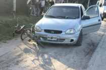 ACCIDENTE ENTRE UN AUTOMÓVIL Y UN CICLISTA