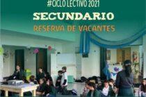 COLEGIO HORIZONTE DE LOBOS – CICLO 2021 – RESERVA DE VACANTES PARA SECUNDARIO