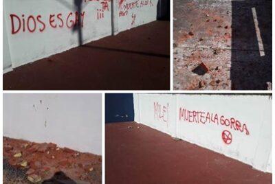 ENCHASTRE Y DAÑOS EN EL ESTADIO DEL PARQUE MUNICIPAL