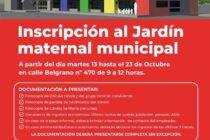 EL MARTES PRÓXIMO SE ABRIRÁ LA INSCRIPCIÓN PARA EL JARDÍN MATERNAL MUNICIPAL