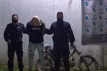 PERSONAL POLICIAL DETIENE A UNA PERSONA QUE LLEVABA UNA MOTO CON PEDIDO DE SECUESTRO