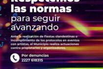 EL MUNICIPIO RECOMIENDA RESPETAR LAS NORMAS VIGENTES EN ESTAS FIESTAS, EVITE SANCIONES