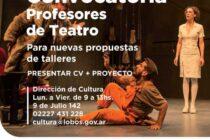 CONVOCATORIA: PROFESORES DE TEATRO