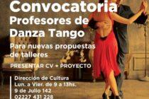 CONVOCATORIA: PROFESORES DE TANGO
