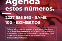 TELÉFONOS PARA EMERGENCIAS SANITARIAS