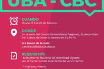 SE ENCUENTRA ABIERTA LA INSCRIPCIÓN PARA UBA-CBC 2021