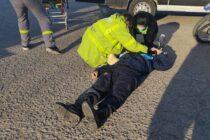 MOTOCICLISTA ELUDIO CONTROL EN LA 41, EMBISTIENDO A UN POLICIA
