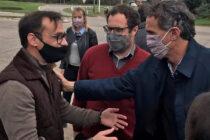 El Ministro Katopodis estuvo en Lobos y recorrió la ciudad con candidatos del PJ