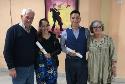 LOS JUBILADOS FERROVIARIOS RECONOCIERON A FATIMA CARACOCH Y ALEJANDRO GONZALEZ